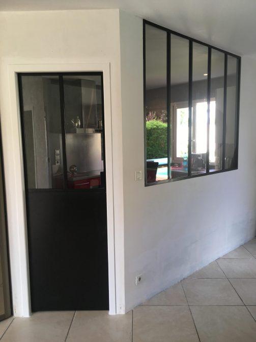 Verri re int rieur et porte style verri re atelier artiste for Porte interieur verriere