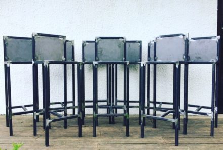 Mobilier en métal sur mesure pour restaurant