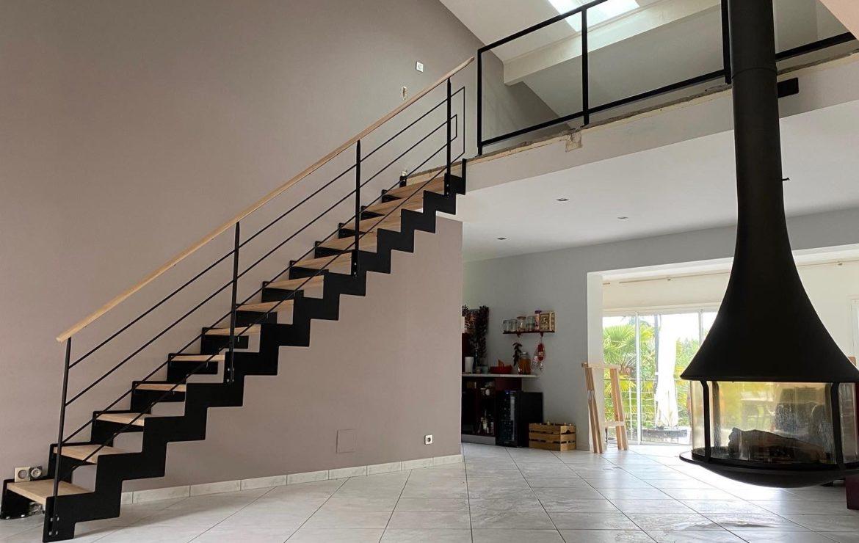 Escalier métal & bois sur mesure