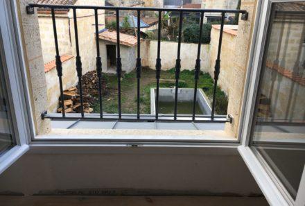 Garde corps fenêtre sur mesure