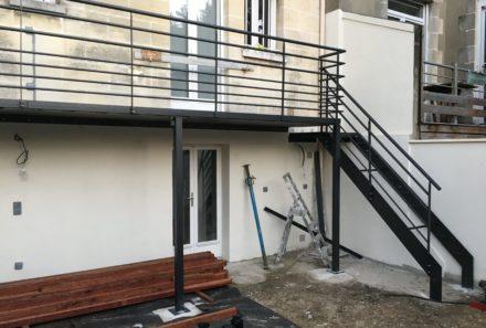 Balcon métallique sur mesure