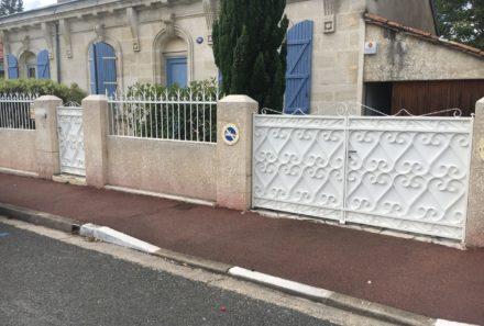 Restauration portail + clôture