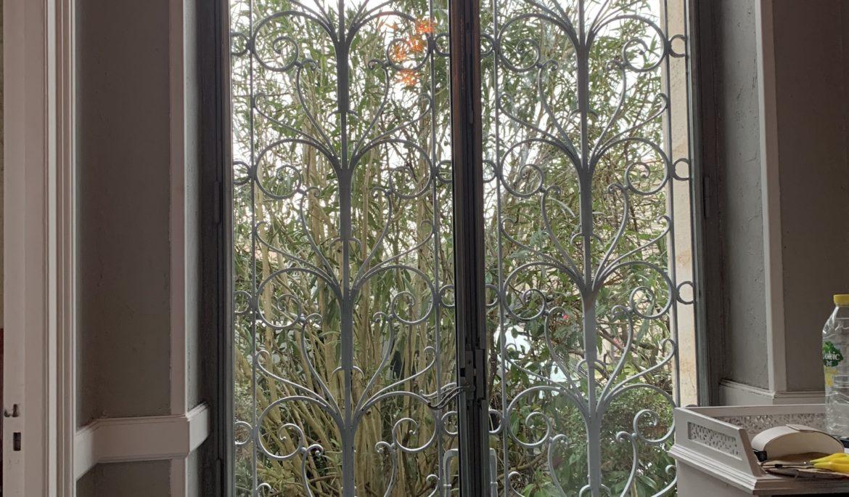 Porte métallique double vitrage