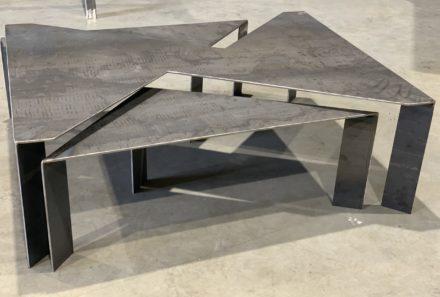 Table basse en métal sur mesure