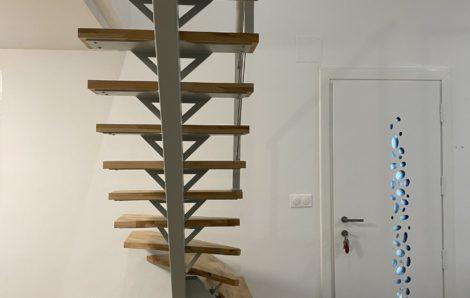 Escalier métal et bois sur mesure