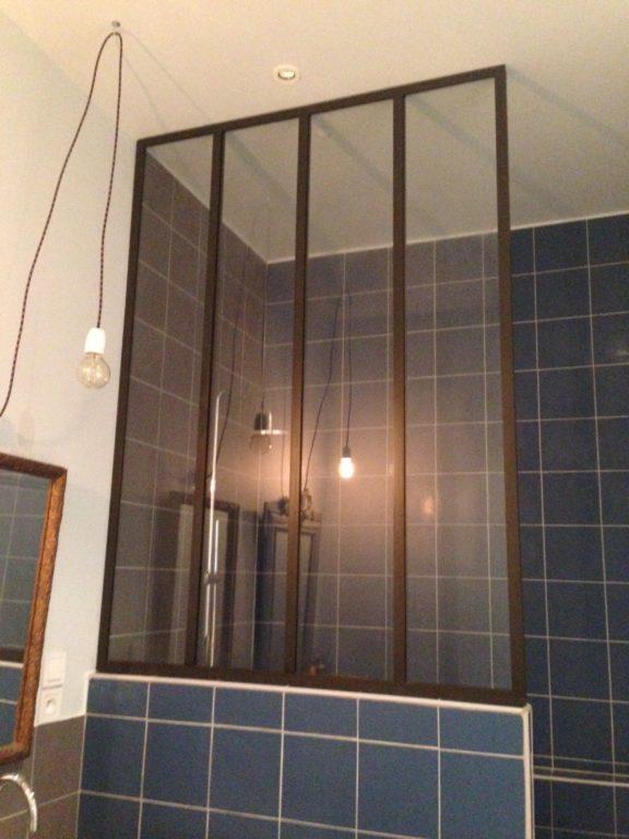Verrière d'intérieur salle de bain