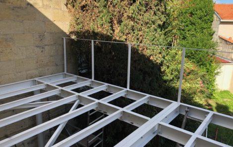 Terrasse métallique sur mesure