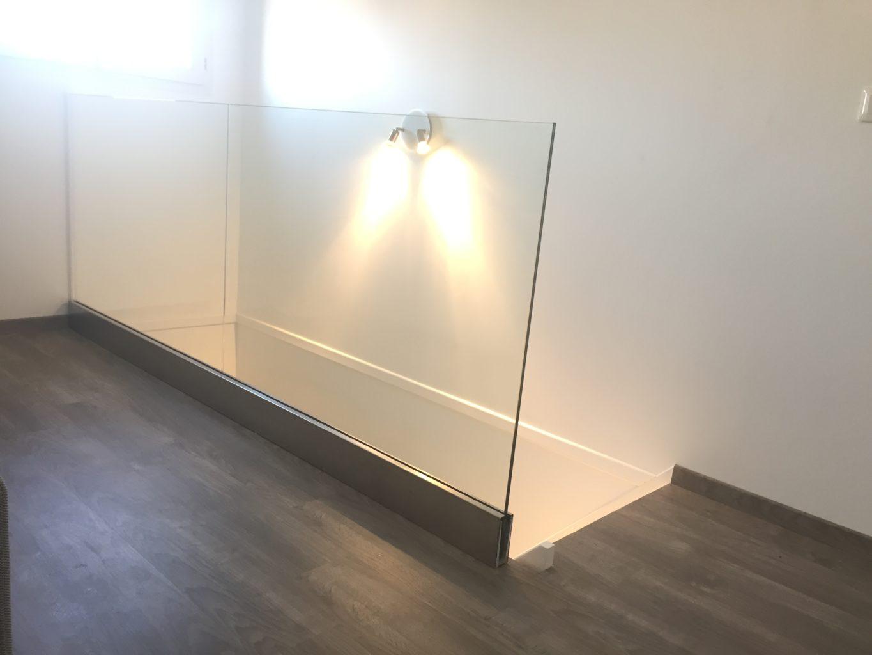 garde-corps en verre sur mesure