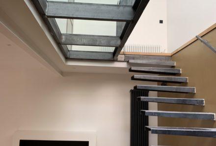 Escalier et plancher en verre sur mesure